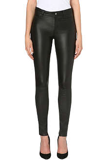 MIH JEANS Ellsworth high-rise leather trousers