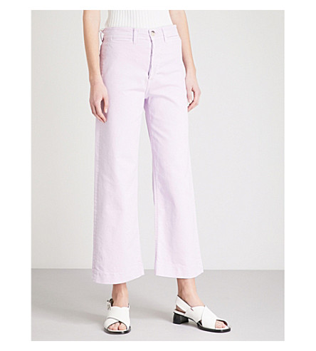 MIH JEANS Caron wide-leg cropped high-rise jeans (Lupin
