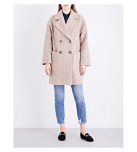 MIH JEANS Ormsby wool-blend coat (Moon+neutral