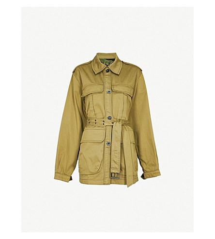 MIH JEANS Lang reversible cotton jacket (Nova+green