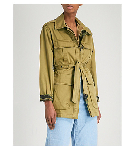 MIH JEANS Lang reversible cotton jacket (Nova+green