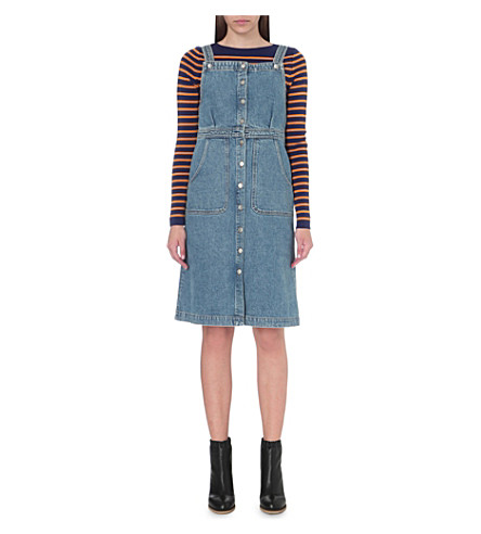 MIH JEANS Eastman denim dress (Preshrunk+blue