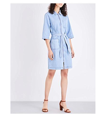 MIH JEANS Rolla denim shirt dress (Faded+fad