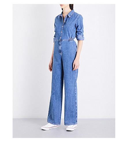MIH JEANS Icon denim jumpsuit (Denim+flat+blue