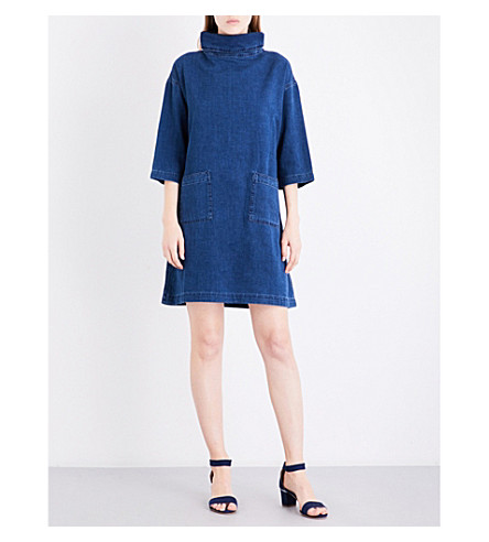 MIH JEANS Westbourne oversized denim dress (Flat+blue