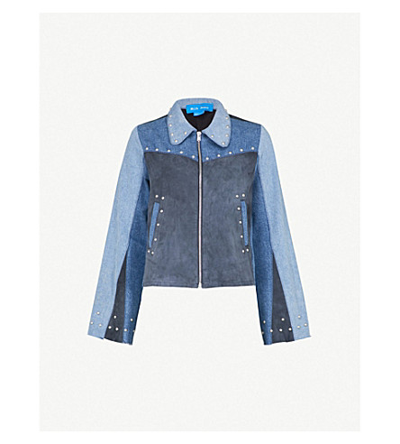 MIH JEANS Folken denim and suede jacket (Izzo