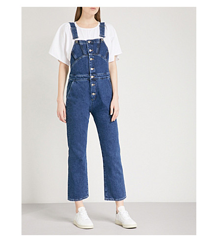 MIH JEANS Tribe slim-fit denim dungarees (Sussex