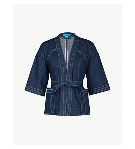 MIH JEANS Farrier stretch-denim kimono jacket (Eco+rinse