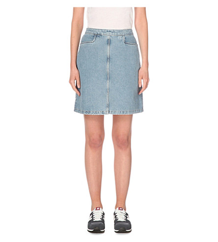 MIH JEANS decade denim skirt (Blue+jean+wash
