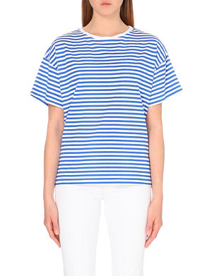 MIH JEANS Peanut striped cotton-jersey t-shirt