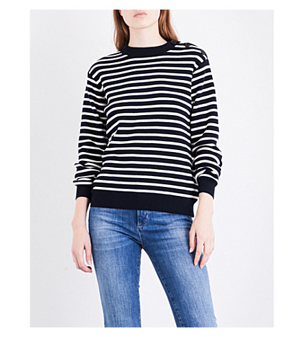 MIH JEANS Breton striped wool jumper (Navy/cream