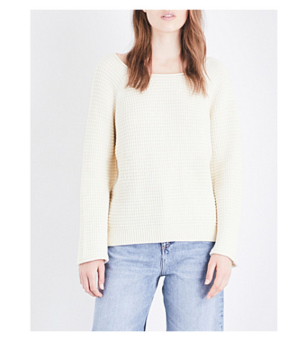 MIH JEANS Open-back cotton jumper (Cream+crm