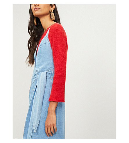 MIH JEANS Bowen knitted jumper (Cherry+red
