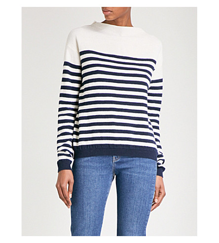 MIH JEANS Margot striped wool jumper (Cream/navy
