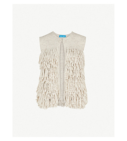 MIH JEANS Woodstock knitted gilet (Stone