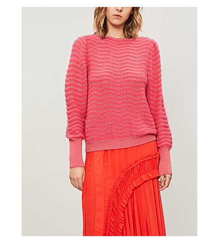 MIH JEANS 西莉亚和羊毛混纺毛衣 (Skittle + 粉红色