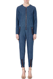 MIH JEANS Denim zip-detail boiler suit