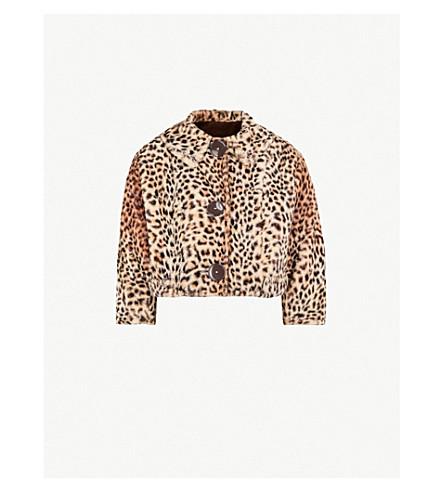 MIH JEANS M.i.h Jeans x Bay Garnett Golborne Road Vintage leopard-print cropped faux-fur jacket (Beige