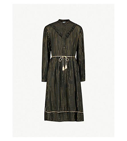 MIH JEANS M.i.h Jeans x Bay Garnett Golborne Road Vintage striped shirt dress (Black+and+gold
