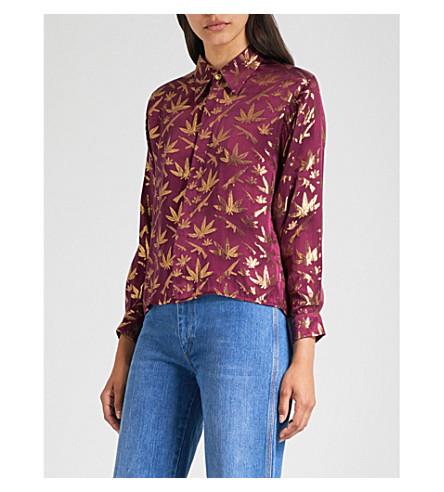 MIH JEANS M.i.h Jeans X Bay Garnett Golborne Road Vintage cannabis-print silk-jacquard shirt (Multi