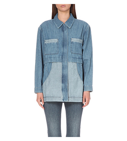 MIH JEANS painters denim parka (Cult+chambray