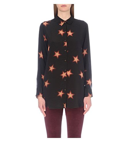 MIH JEANS Simple silk-crepe de chine shirt (Star