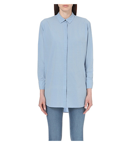 MIH JEANS Oversized cotton shirt (Ash blue
