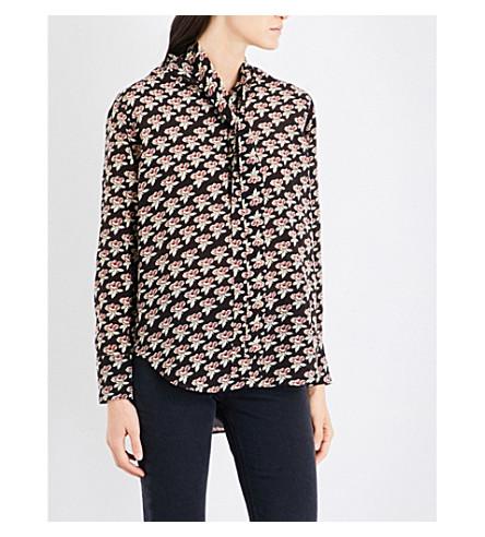 MIH JEANS Twigs silk-crepe de chine shirt (Penelope+print