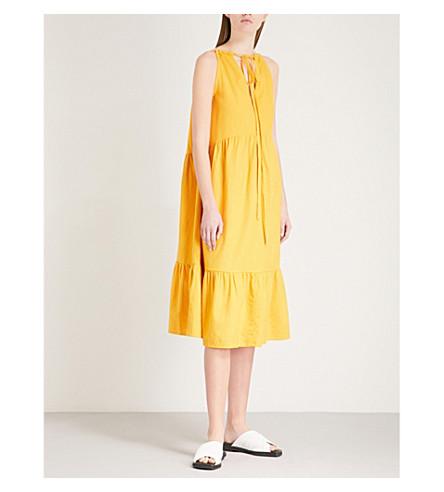 MIH JEANS Lita cotton-voile dress (Saffron