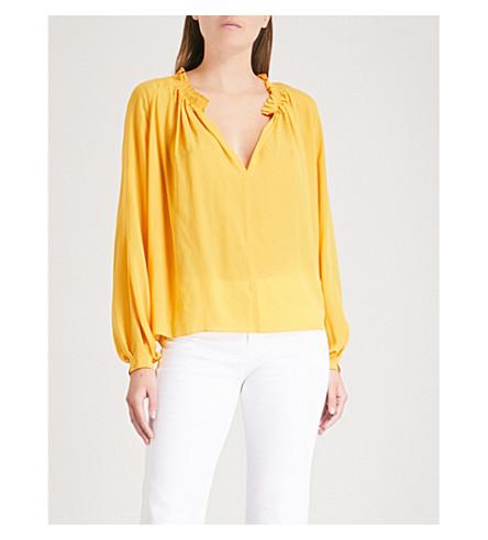 MIH JEANS Sidi silk blouse (Saffron