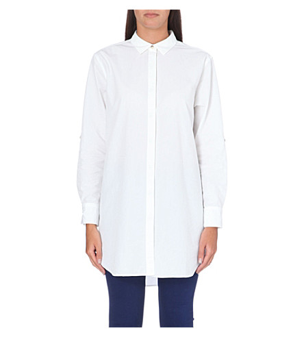 MIH JEANS Oversized cotton shirt (White