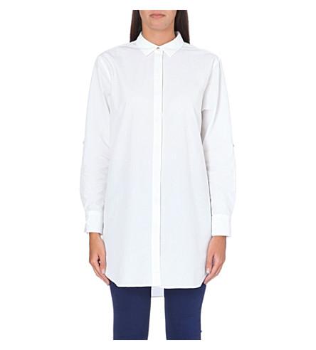 MIH JEANS 超大号棉质衬衫 (白色