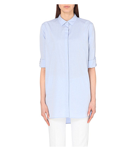 MIH JEANS Oversized cotton shirt (Blue