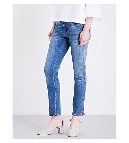 MIH JEANS Paris skinny mid-rise jeans (Bee+wash