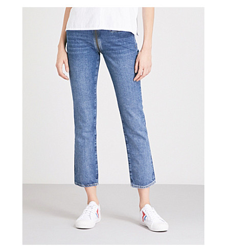 MIH JEANS Paris skinny mid-rise jeans (Drive+through+1971