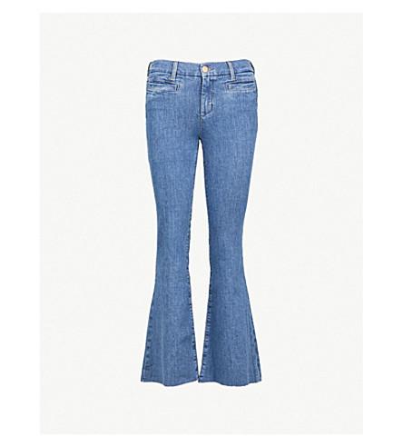 MIH JEANS马拉喀什超薄适合踢耀斑的高级牛仔裤 (地球 + 蓝色