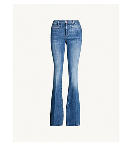 MIH JEANS Marrakesh flared high-rise jeans (Bee+wash
