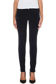 MIH JEANS The Bonn velvet skinny high-rise jeans