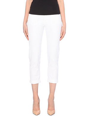 MIH JEANS Cropped mid-rise jeans