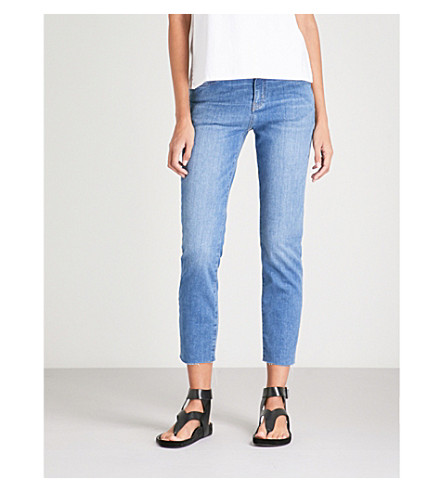 MIH JEANS Tomboy skinny boyfriend mid-rise jeans (Axel