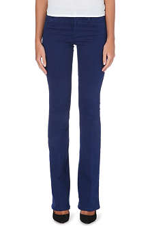 MIH JEANS The Bodycon flared high-rise jeans