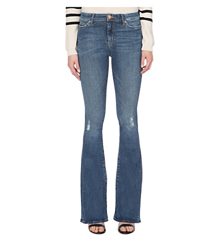 MIH JEANS Bodycon Marrakesh flared high-rise jeans (Chino