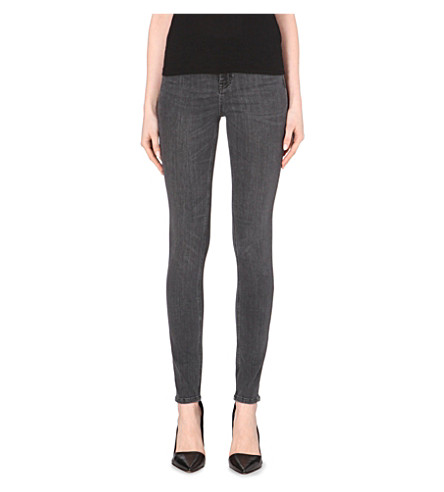 MIH JEANS The Bodycon skinny high-rise jeans (60s+black