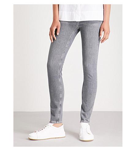 MIH JEANS Bridge skinny high-rise jeans (Great+grey