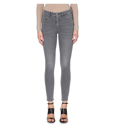 MIH JEANS Bridge skinny high-rise jeans (Sailor+grey
