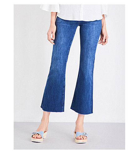 MIH JEANS Lou flared cropped mid-rise jeans (Clarice