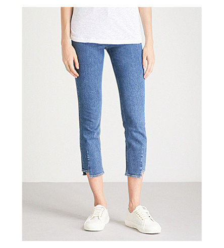 MIH JEANS Niki skinny cropped high-rise jeans (Classic+skew