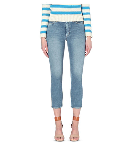 MIH JEANS Niki skinny cropped high-rise jeans (Paz