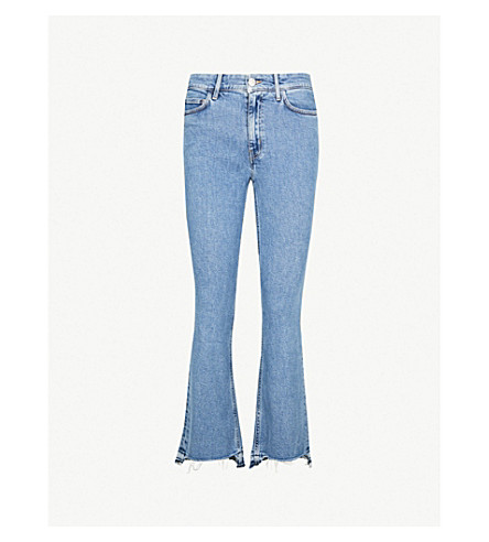 MIH JEANS Marty flared high-rise jeans (Marblize