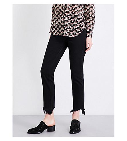 MIH JEANS Mimi slim high-rise jeans (Black+cat